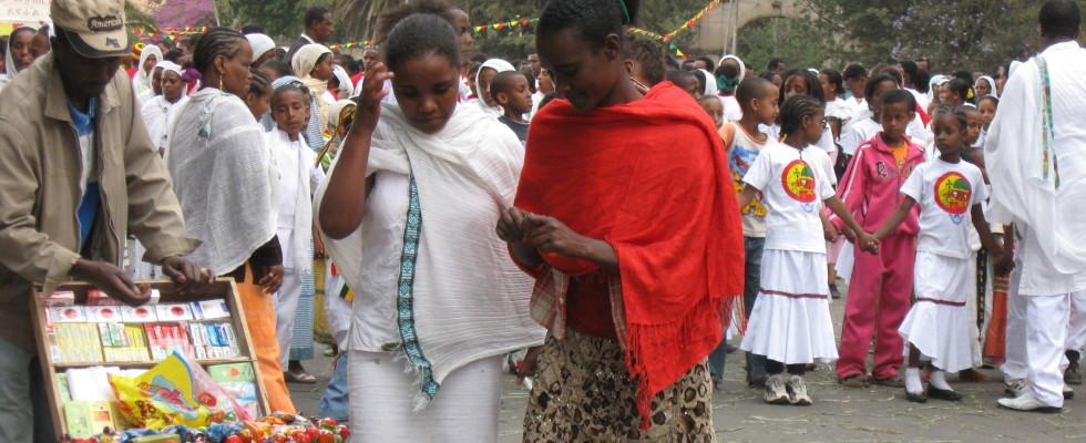 Äthiopien Addis Markt